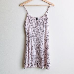 H&M pink and black button down dress - size 8